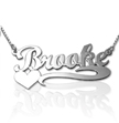 Heart Silver Name Necklace