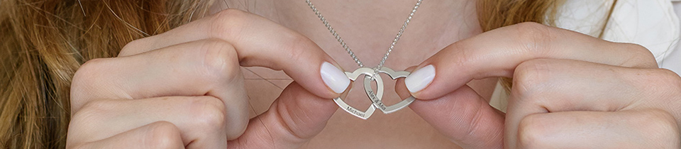 Personalized Silver Necklaces & Jewelry - Monograms, Name necklaces and more