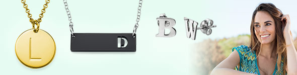 Wearing a Personalized Letter Initial Necklace
