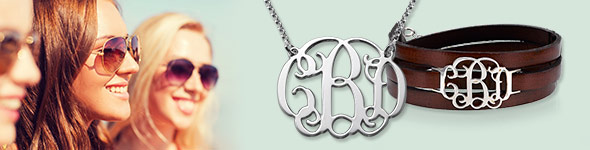 new monogram ideas - mynamenecklace
