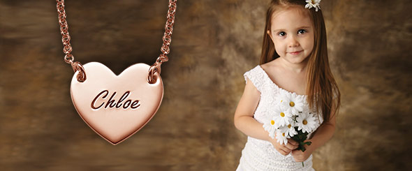 Personalized Jewelry for Flower Girls