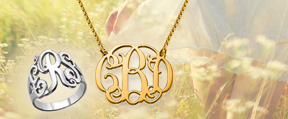 How to buy a monogram online - My Name Necklace