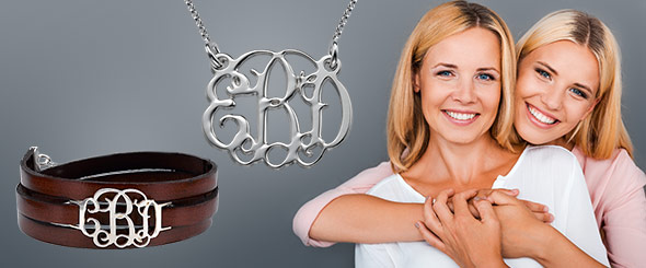 monogrammed necklace for moms