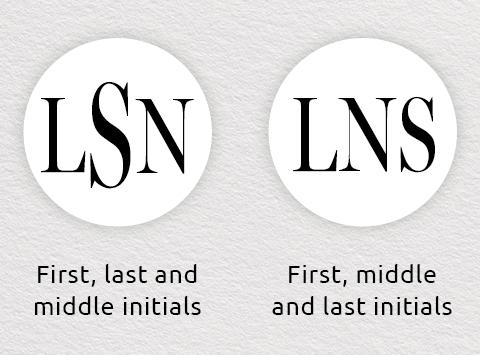 monogram order three initials for men
