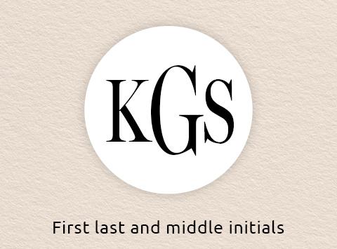 Monogram Three Initials for Women