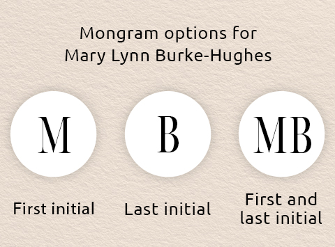 monogram order of hyphonated name