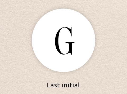 Single initial monogram order