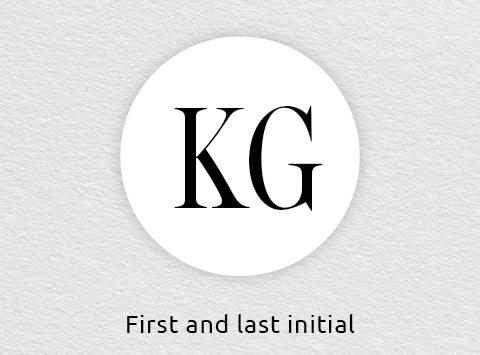 Two initial monogram order