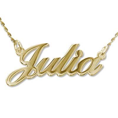 Collana con nome personalizzato carattere classico in oro 14k foto del prodotto