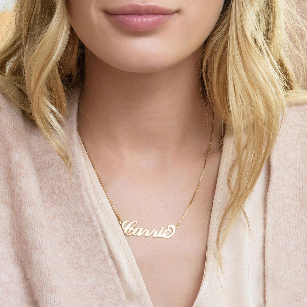 """Collana con nome personalizzato stile """"Carrie"""" in argento placcato oro 18k - 1"""