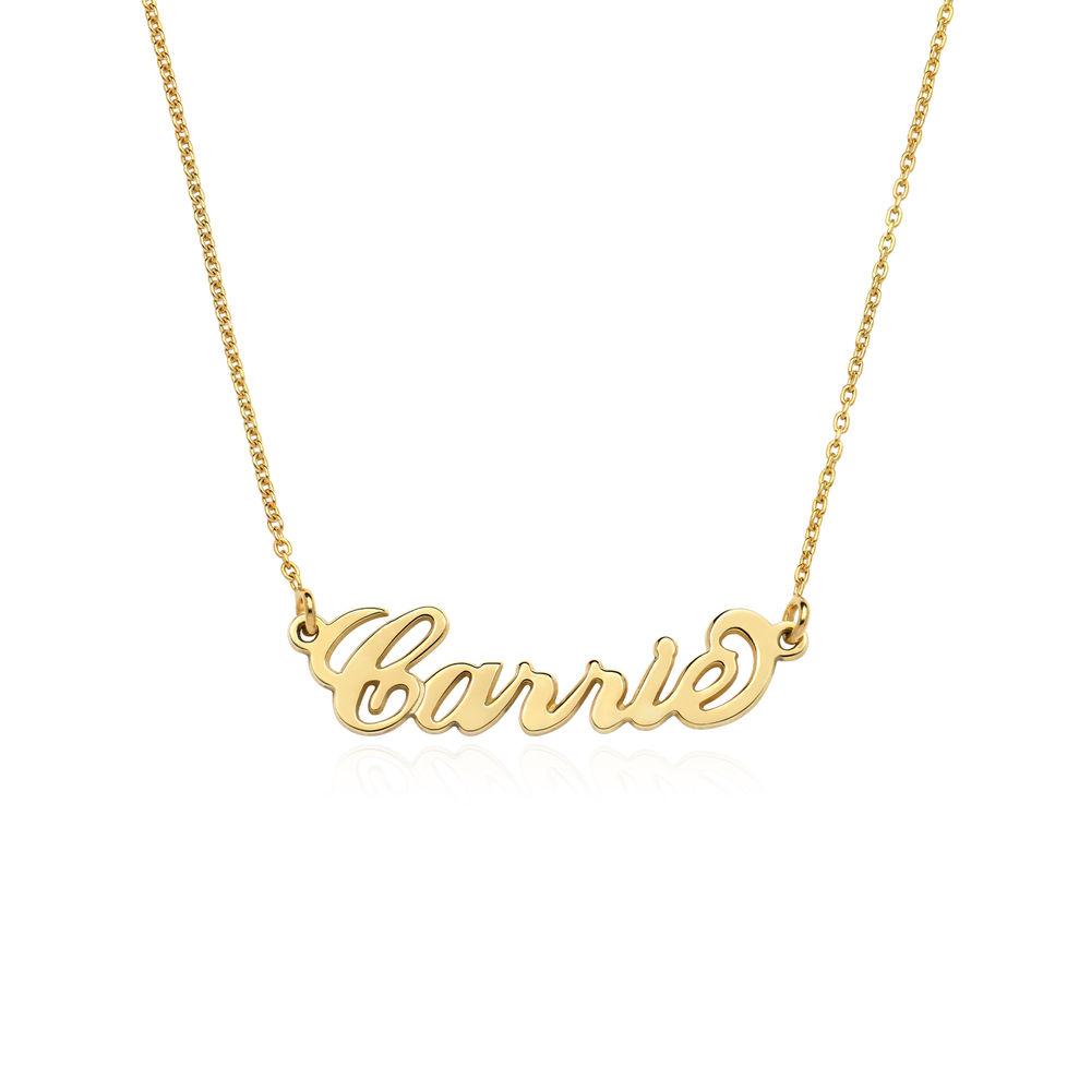 Collana con Nome Personalizzato Stile Carrie in Oro 18K