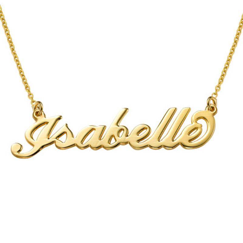 """Collana con nome personalizzato stile """"Carrie"""" in Argento con Vermeil d'Oro - 1"""