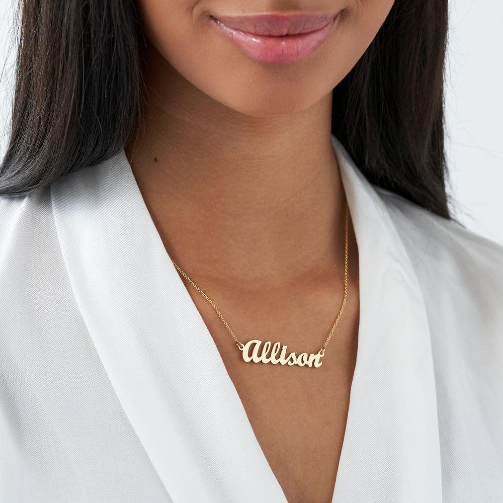 Piccola Collana Personalizzata con Nome Classica in Vermeil d'Oro - 2