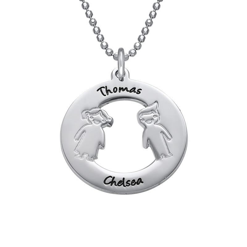Collana In Argento Con Nome Dei Bambini foto del prodotto