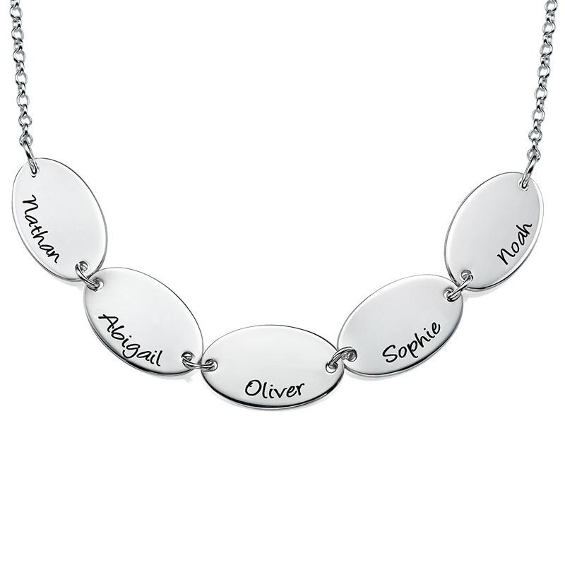 Collana della mamma con nomi dei bimbi, di forma ovale - 1