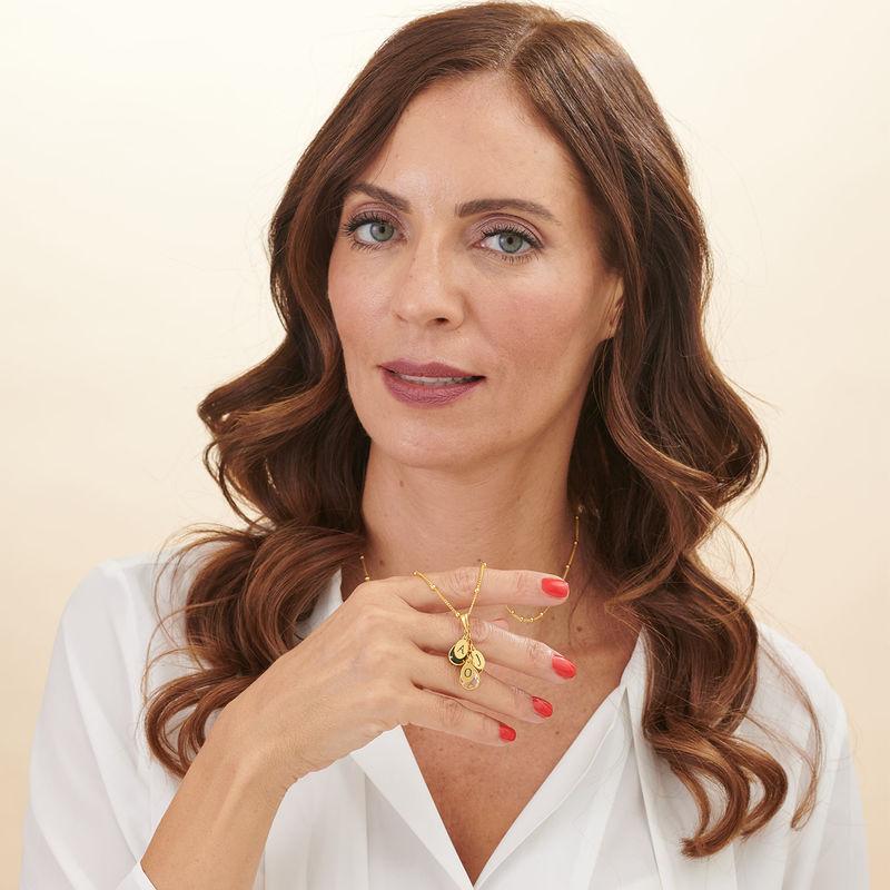 Collana Mamma personalizzata con Pietre Portafortuna a Cascata Placcata Oro - 2