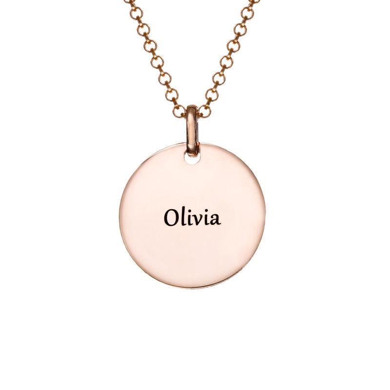 Collana con perla Unicorno Placcata Oro Rosa - 1