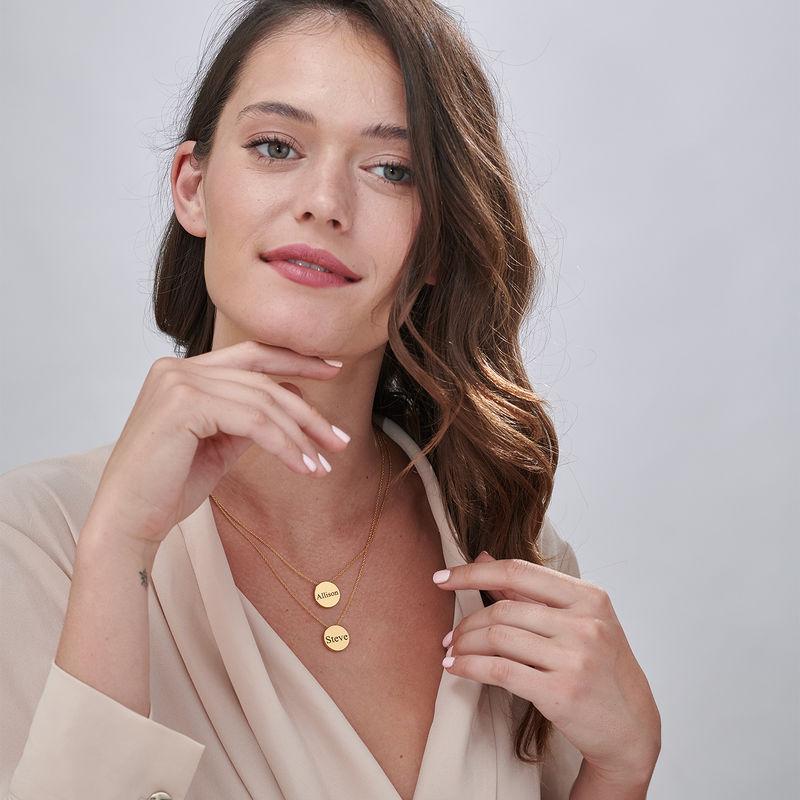 Collana con Cerchio Spesso Personalizzata Placcata Oro - 6