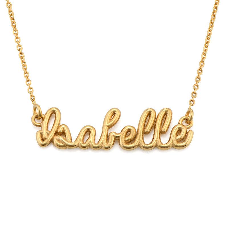 Collana con Nome in Carattere Calligrafico Placcata Oro foto del prodotto