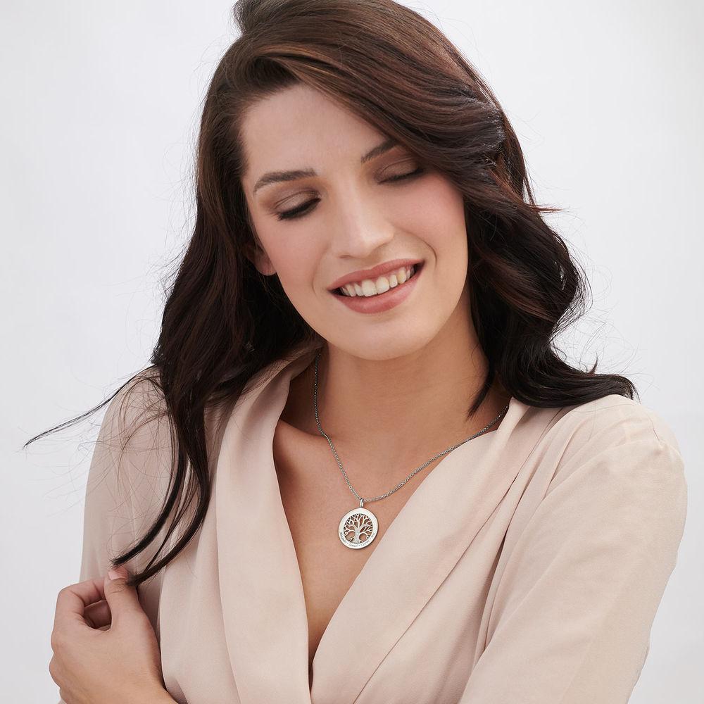 Collana Albero della Vita con Zircone Cubico in Argento - 2