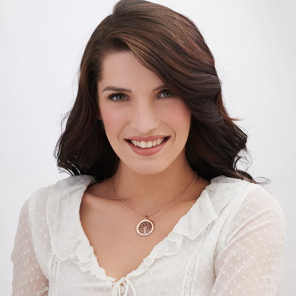 Collana Albero della Vita con Zircone Cubico Placcata Oro Rosa - 2