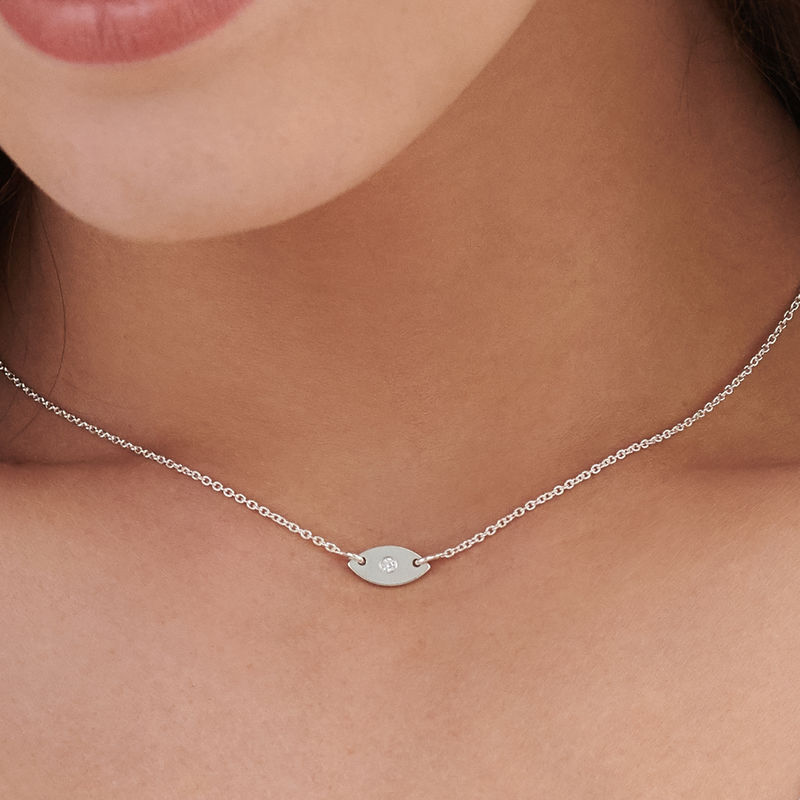 Delicata Collana con perla Occhio in Argento - 2