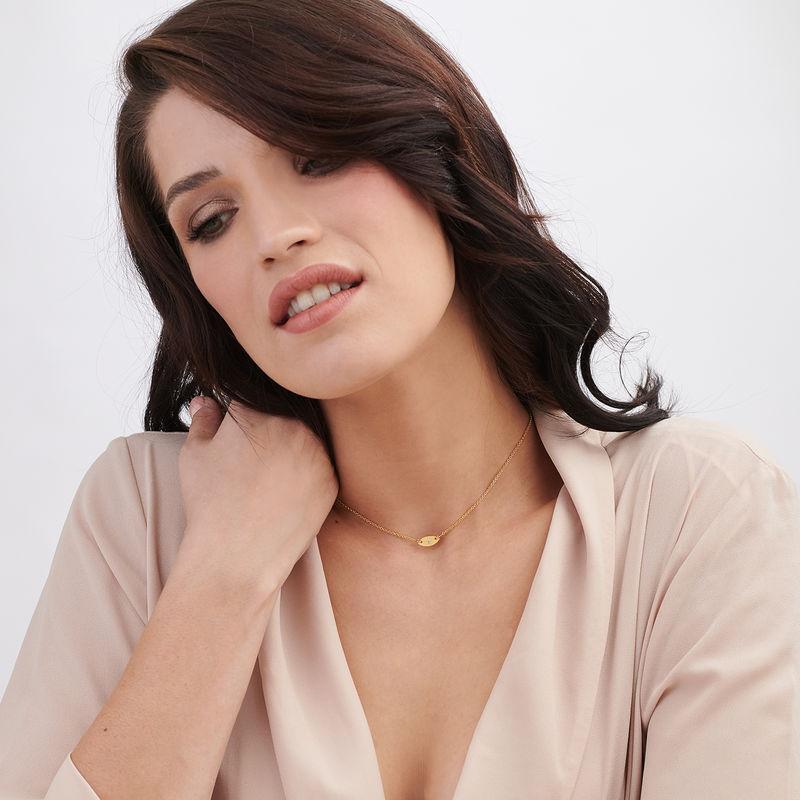 Delicata Collana con perla Occhio Placcata Oro - 1