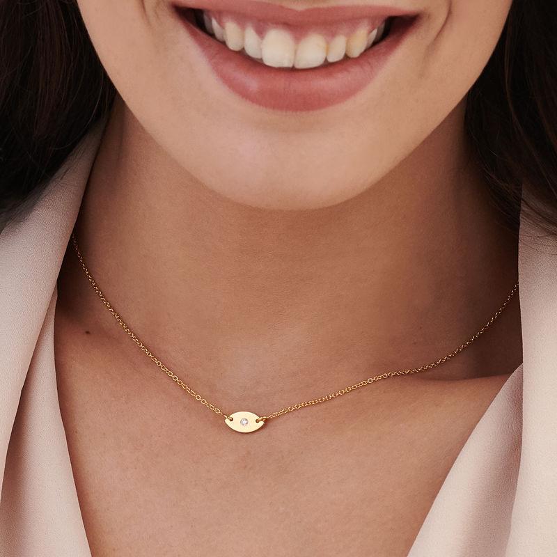 Delicata Collana con perla Occhio Placcata Oro - 2