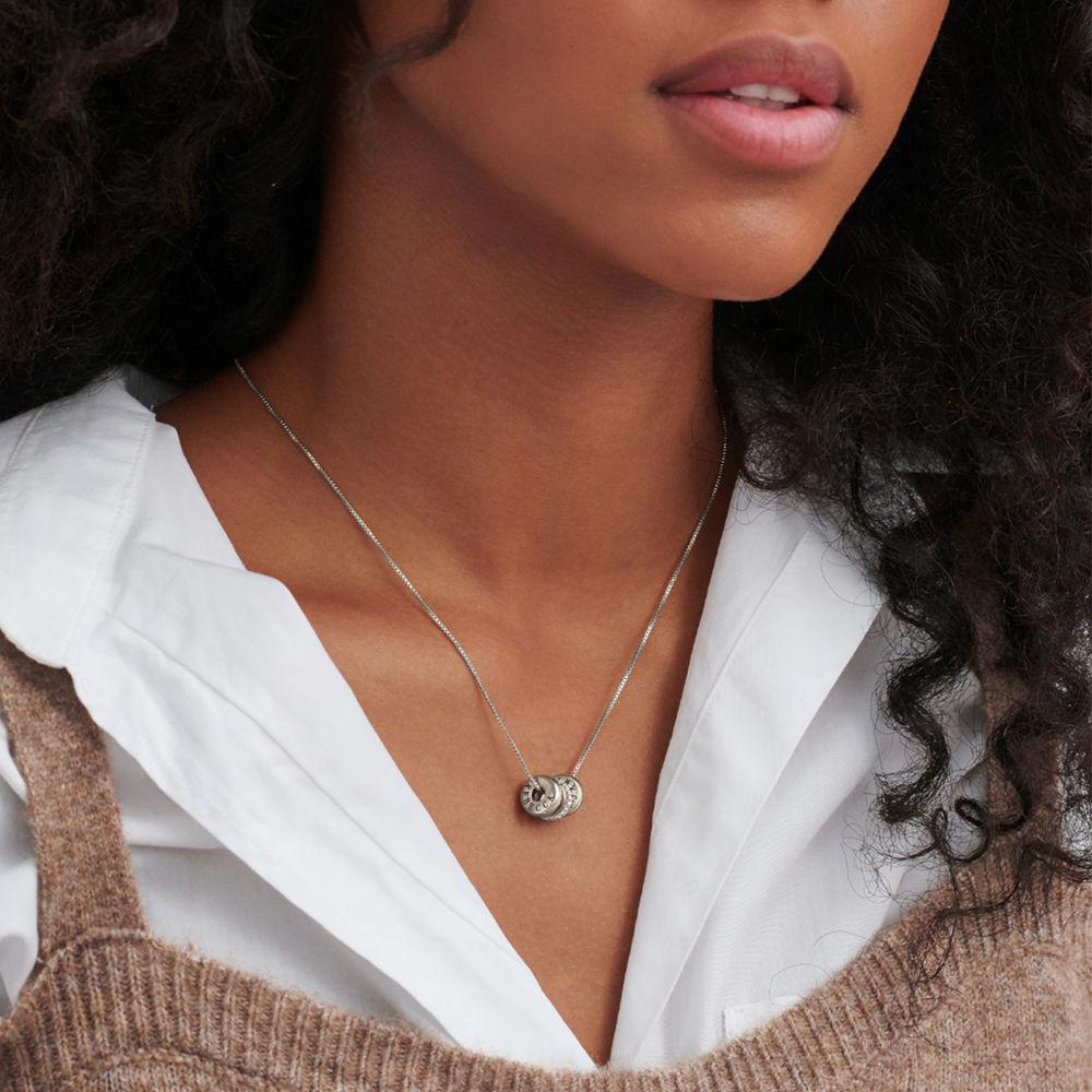 Collana con perline incise personalizzate in argento 925 - 3