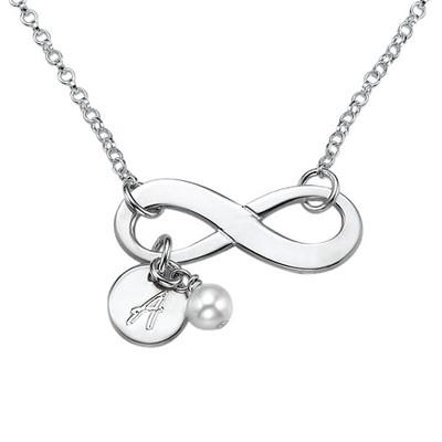 Collana con simbolo dell'Infinito in Argento Sterling foto del prodotto