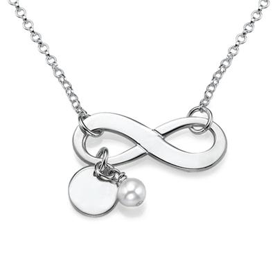 Collana con simbolo dell'Infinito in Argento Sterling - 1