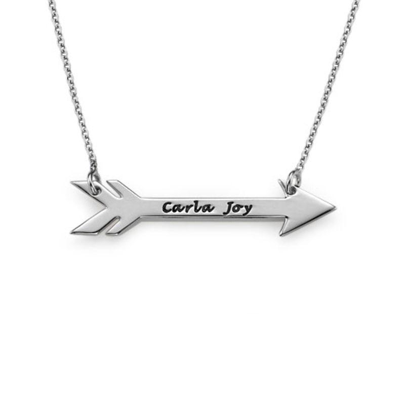Collana personalizzata con freccia in argento foto del prodotto