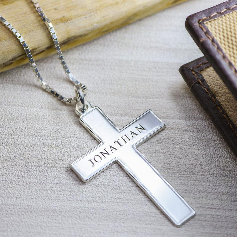 Collana da Uomo con Croce e incisione - 2