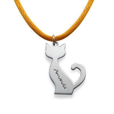 Collana Personalizzata Con Gatto In Argento foto del prodotto