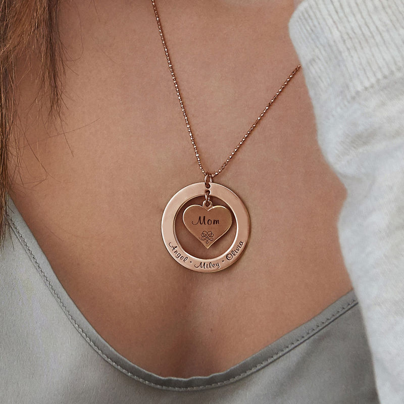 Collana per la Nonna o la Mamma Placcata in Oro Rosa - 3