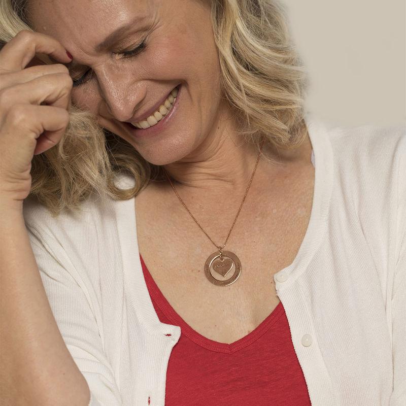 Collana per la Nonna o la Mamma Placcata in Oro Rosa - 4