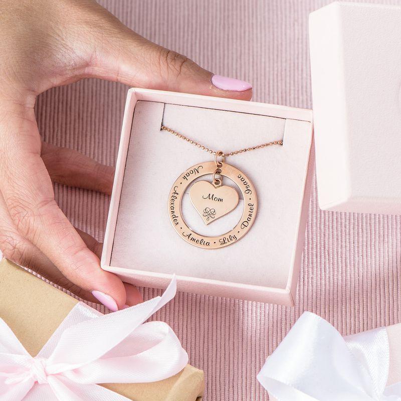 Collana per la Nonna o la Mamma Placcata in Oro Rosa - 5