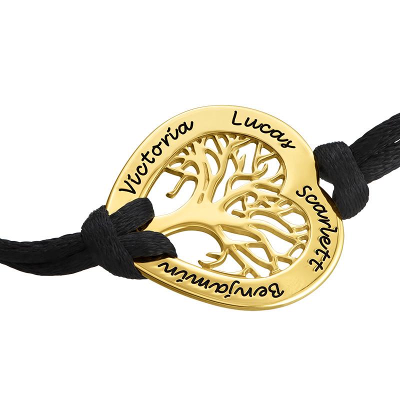 Braccialetto a Cuore con Albero della Vita Placcato in Oro - 1
