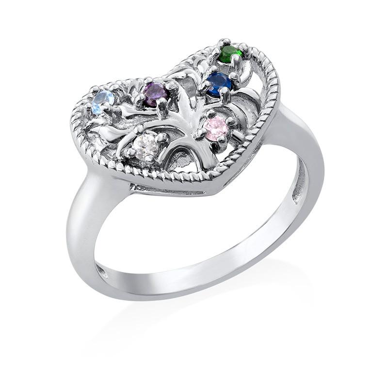 Anello a forma di cuore con pietre foto del prodotto
