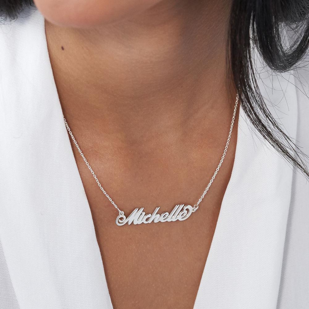 """Collar Pequeño con nombre estilo """"Carrie"""", plata - 2"""
