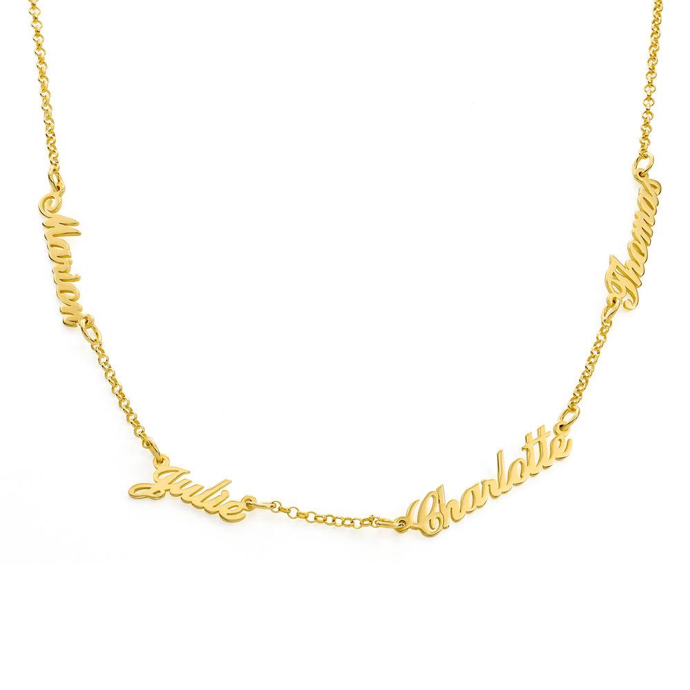 Collar con Nombres Múltiples chapado en oro 18K