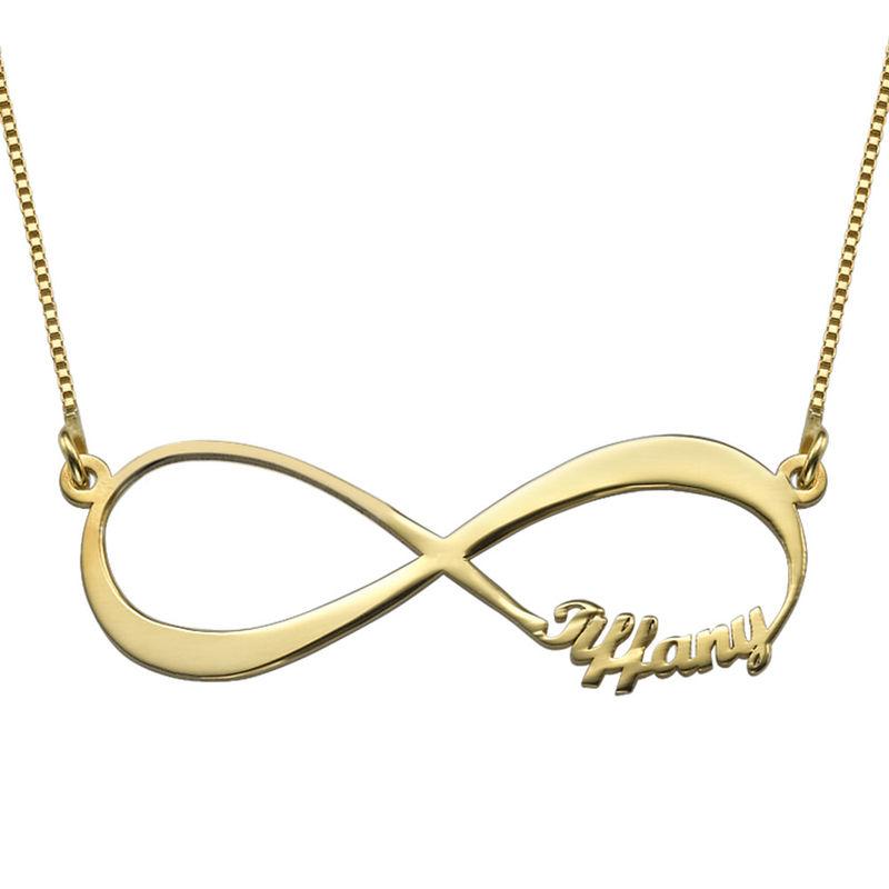 Collar con Nombres Infinito Chapado en Oro - 1