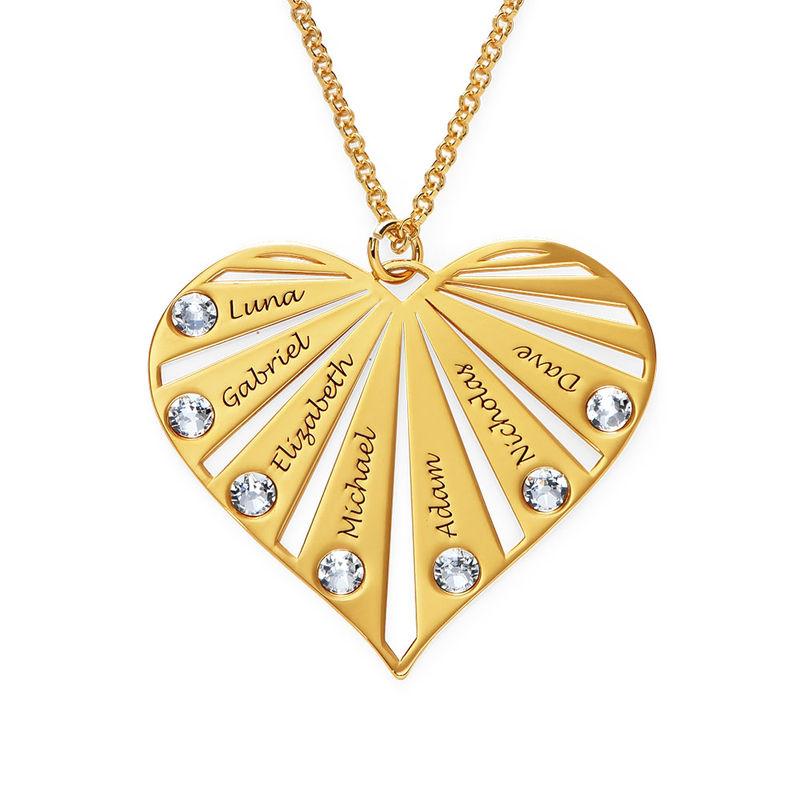 Collar de la Familia con Piedras de Nacimiento en Oro Vermeil - 1