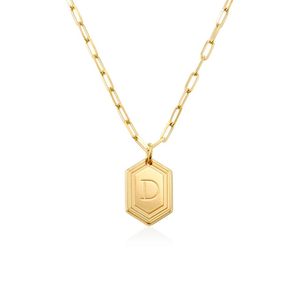 Cupola collar de cadena de eslabones en chapa de oro de 18k