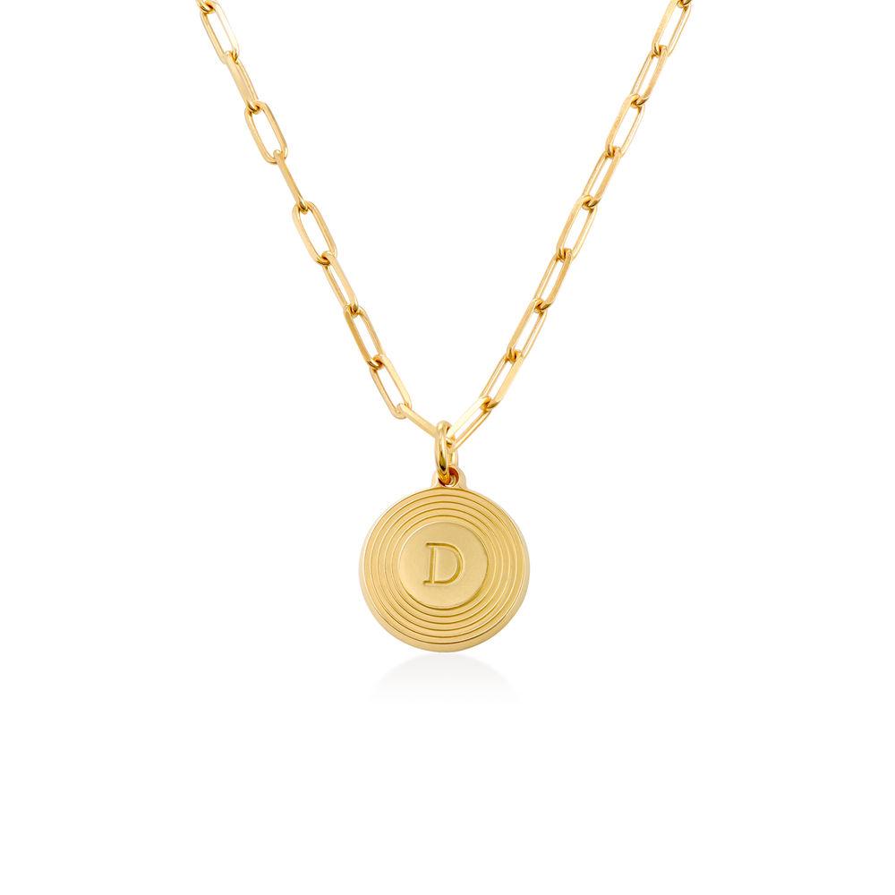 Collar inicial Odeion en chapado de oro vermeil 18k