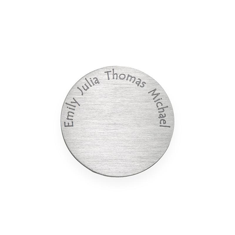 Placa para Medallón Flotante – Disco con Nombres Grabados