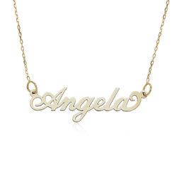 """Joyeria personalizada- Collar """"Carrie"""" en oro de 10K foto de producto"""