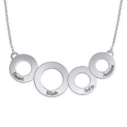 Collar Círculos Grabados en Plata de Ley foto de producto
