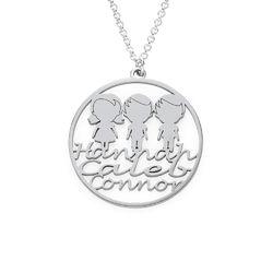 Collar Círculo para Mamá en Plata de Ley foto de producto