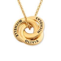 Collar anillo ruso chapado en oro - diseño mini foto de producto